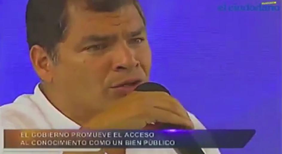 Rafael Correa enlace 350