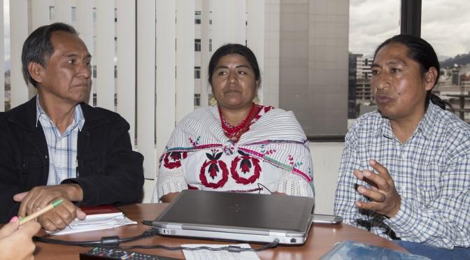 Comunidades indígenas colaboran en la construcción del Buen Conocer