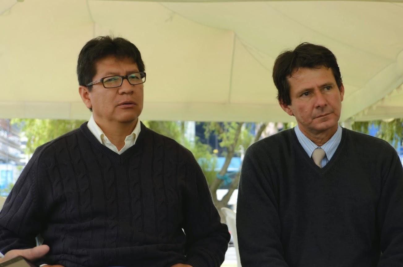 Jorge Concha (izquierda) y Oscar Vera