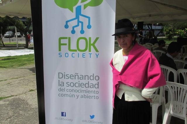 Marcela Choloquinga, vicepresidenta de AJUMPRE y participante de la Cumbre del Buen Conocer