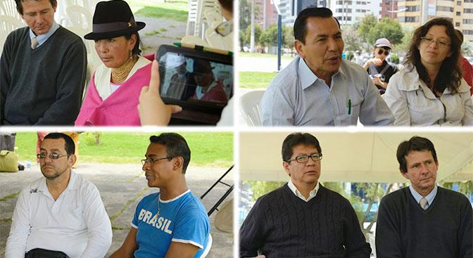 Participantes de la cumbre en representación de organizaciones comunitarias y rurales