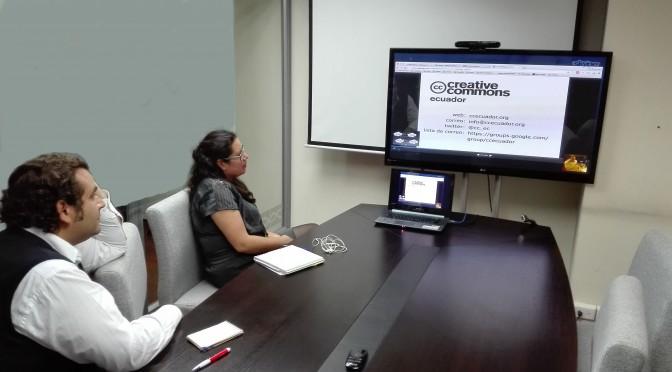 Creative Commons Ecuador y MCCTH estudian formas de colaboración
